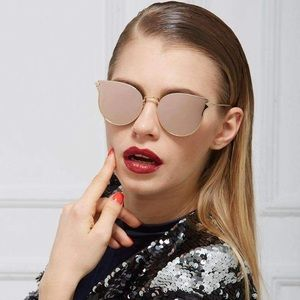 Forever new mirror cateye black sunnies NWT
